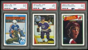 GRANT FUHR ... GRADED ... PSA MINT 9 ... O-Pee-Chee ROOKIE CARD