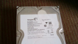 2   and 1 terabyte harddrives 80.oo sold togeather