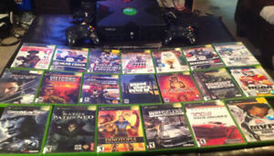 Original Xbox With 2 Controllers and 20 Games