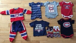 11 PC MONTREAL CANADIAN HABS BABY CLOTHING