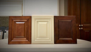 Walnut and Antique white kitchen & bathroom vanity on Clearance!