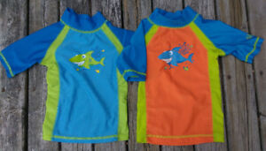 Two swim/sun-protection tops size 12-18m