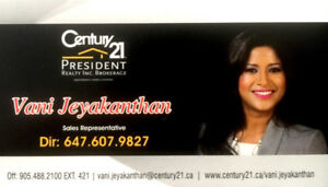For All Your Real Estate Needs, Please Contact Vani!