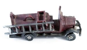 Old cast iron fire truck toy