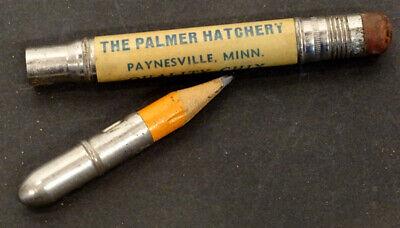 Vintage PALMER CHICKEN HATCHERY Advertising Bullet Pencil PAYNESVILLE MINNESOTA