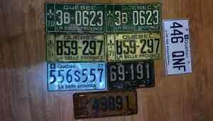 Anciennes Plaques d'auto 1936/1937/1970/1971/1977 +