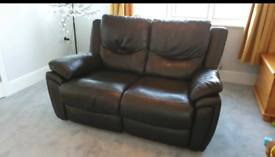 Sold Electric recline leather sofas