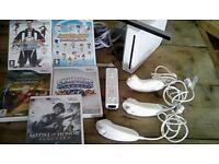 Nintendo Wii and games plus controls