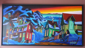 "Mario Beaudoin - Peiture Originale 30"" x 60""  ""Baie St-Paul"""