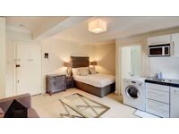Stylish New Decorated Studio Flat with private garden available in Pelham Court Fulham Road London