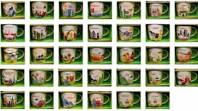 U PICK- Starbucks Mug YOU ARE HERE YAH Collector Series Mugs S-Z 14oz new w/SKU