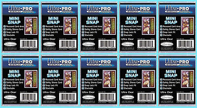 Recessed Snap (10 ULTRA PRO RECESSED MINI SNAP STANDARD SIZE Trading Card Holder Sports)