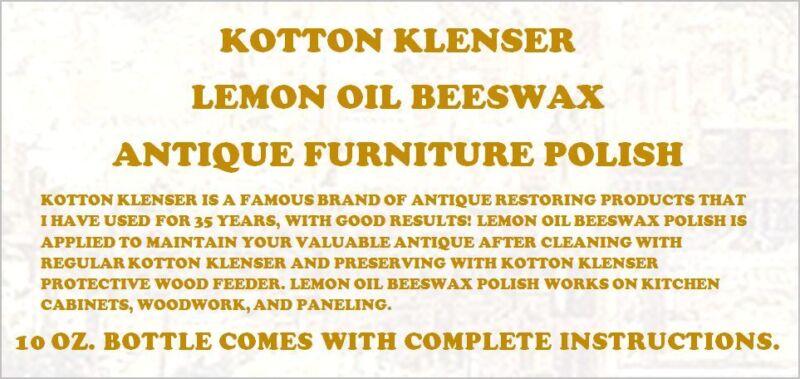 HOME RENTAL RESTORATION KOTTON KLENSER ANTIQUE WOOD PRESERVATIVE POLISH 10 OZ