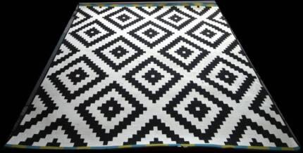 BLACK & WHITE CARPET. IKEA.  Large square carpet.  20cm x 205cm.