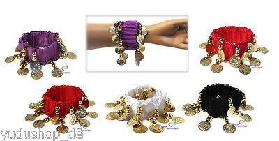 Paar Bauchtanz Armband mit Münzen Perlen  Kostüme Karneval -