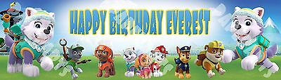 Personalized Paw Patrol The New Pup Everest Name Poster Customized Painting ](Paw Patrol Puppy Names)