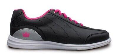 Womens Brunswick MYSTIC Bowling Ball Shoes Black/Pink Sizes 5-11 ()