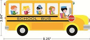 School-Bus-Toy-Car-Kids-Children-Wall-Decal-Sticker-0188