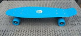 Boys blue plastic skateboard, hardly used