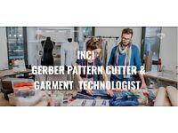 INCI GERBER PATTERN CUTTER GARMENT TECHNLOGIST