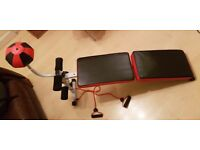 Abdominal Crunch AB Bench Exercise Fitness Machine With Boxing Ball Dumbbel Rope