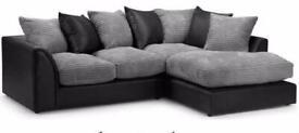 Brand new Byron sofa sets in corner or 3+2 in black&grey🔥🔥🔥