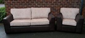 Brand New 3 Seater Sofa & Armchair