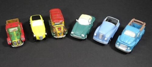 Lot of 6 Assorted Cars, Pickup & School Bus Christmas Village Holiday Scenes