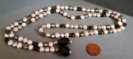 mixed real pearl necklace