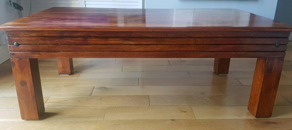 Immaculate Solid Wood Coffee Table In Swansea Gumtree