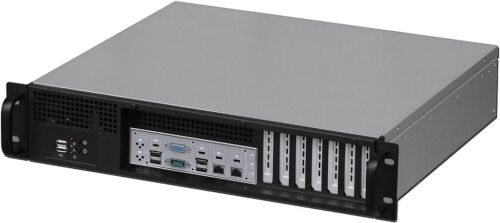 """2U Front Access (ATX/ITX)(2x3.5""""+4x2.5""""HDD)(Rackmount Chassis)(D13.78"""" Case)NEW"""