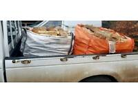 2 x XL DUMPY BAGS OF MIXED LOGS DELIVERED