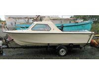 """Vega"" 18' Selco Fiberglass boat and trailer"