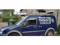 window cleaning van with reach & wash system