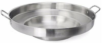 Large Mexican Wok Comal Cazo Griddle Fryer Deep Fry Pan Stainless Steel 23