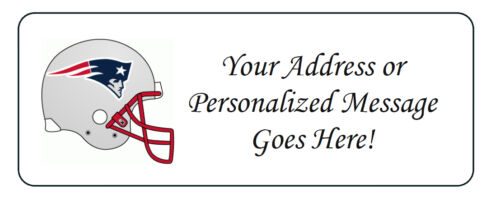 60 Personalized New England Patriots Personalized Return Address Labels
