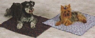 Crochet Pattern~ Kitty Cat & Puppy Dog Woven Jewel Blankie Pet Bed ~Instructions