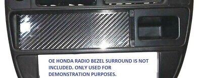 Carbon Fiber Radio Plate - RADIO CARBON FIBER BLOCK OFF DELETE COVER PLATE for HONDA 96-98 CX DX HX LX EX