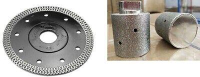 2 Straight Diamond Profile Wheel 15 Mesh Rim Saw Blade Granite Marble Ceramic