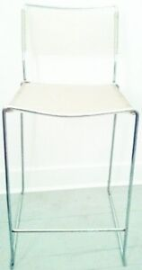 FREE DELIVERY Vintage MODERNIST Bar Stool Chair CHROME Antique
