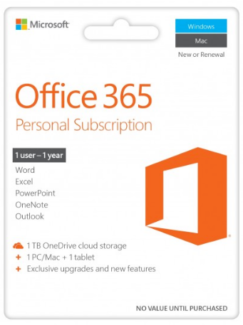 Office 365 Personal 1-year subscription