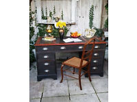 Shabby Chic Large Writing Desk in Annie Sloan,Free Delivery Within 50 miles !