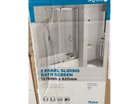 New in the box Aqualux sliding bath panel