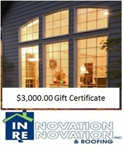 $3000.00 Gift Certificate from Innovation Renovation