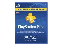 SEALED 90 DAYS SONY PLAYSTATION PLUS 3 MONTHS SUBSCRIPTION BRAND NEW FOR PLAYSTATION 4