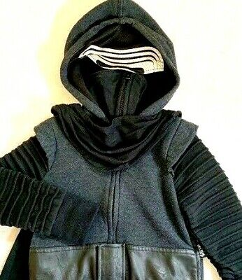 Star Wars The Force Awakens I'm Kylo Ren Zip-Up Hoodie Black Size 7-8 years NEW