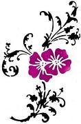 Wandschablone Blume