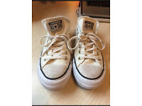 White Converses All Star brand new.