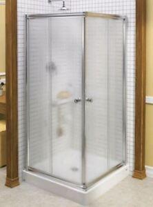 NEUVE portes de douche en coin 36 X 36