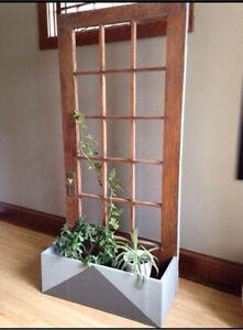 Trellis/planter door